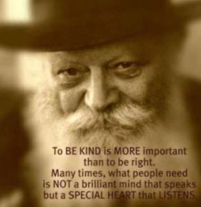 being kind more important than being right